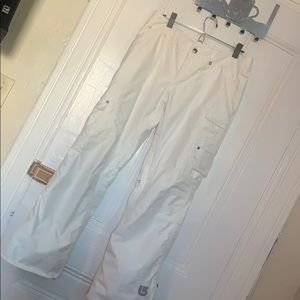 Women's White Burton Snowpants